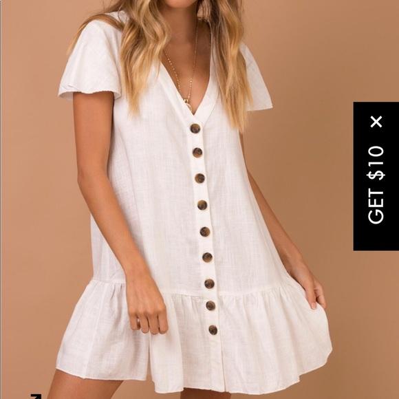 a6194817b09 NEW princess Polly white button down dress. M 5b97d09b9519961bdf40a6a8